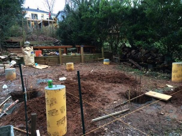 how to build quick tube concrete foundations