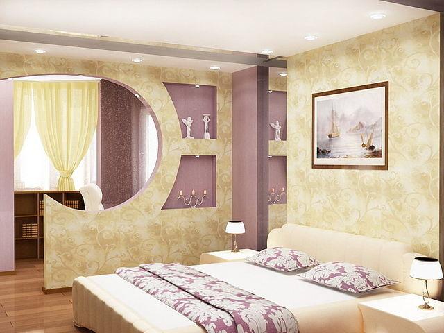 Перегородки для спальни из гипсокартона фото