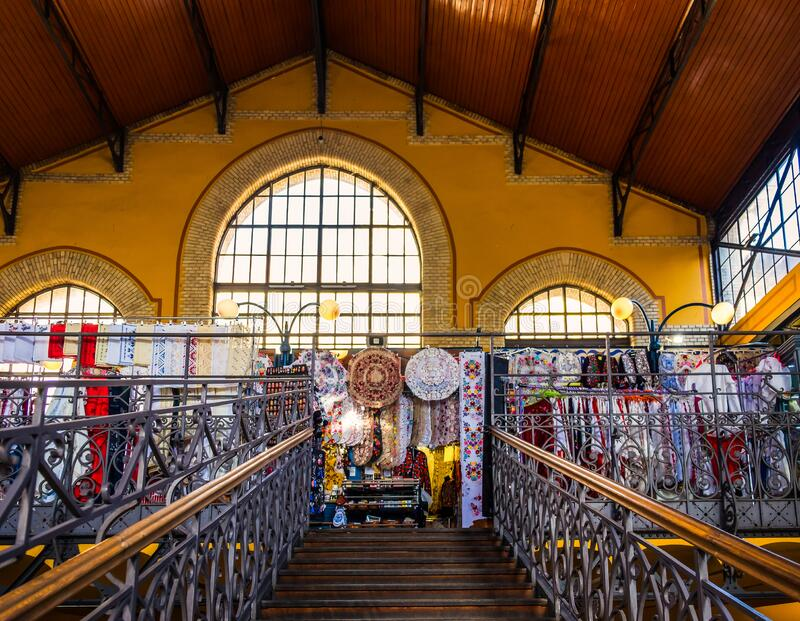 Budapest-Central Market Hall-Stairs royalty free stock photos