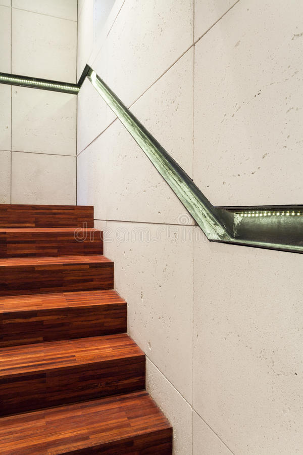 Staircase in modern home royalty free stock images